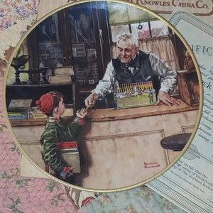Collectible Norman Rockwell plate BACK TO SCHOOL